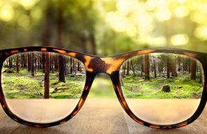късогледство, очила