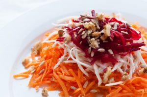 целина, моркови, салата