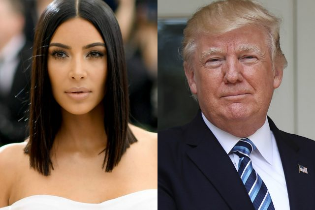 Ким Кардашиян, Доналд Тръмп