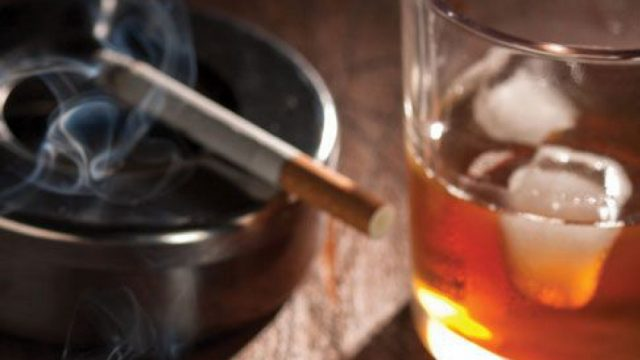 цигари, алкохол