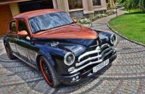 """Автомобилен ентусиаст от Днепър преработи прочутия съветски автомобил ГАЗ М-20 """"Победа"""". Новото му тунинговано творение получи ня"""