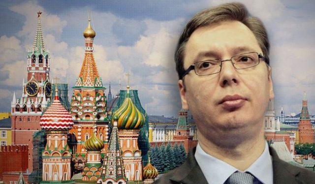 Вучич, Кремъл