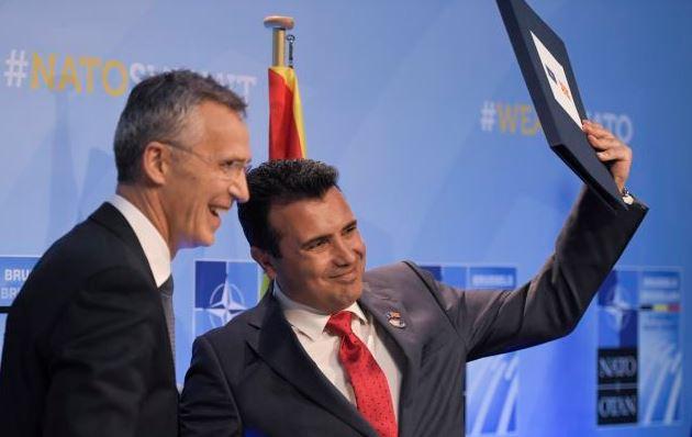 Заев, Столтенберг, НАТО