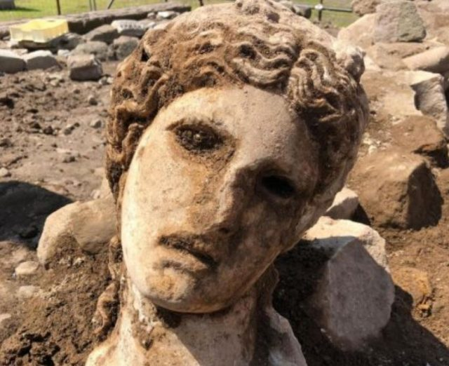 статуя, глава, Колизей